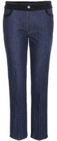 Miu Miu Embroidered Straight-leg Jeans