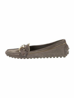 Louis Vuitton Suede Loafers Grey