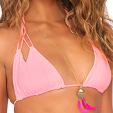 Luli Fama Cosita Buena Rever.Zig-Zag Knot.Cut Out Triangle Top in Pink Sunsets (L176206)