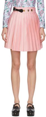 Charles Jeffrey Loverboy Pink Wool Kilt Miniskirt