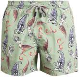 Etro Paisley and mermaid-print swim shorts
