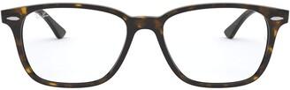 Ray-Ban Unisex's Rx7119 Rectangular Eyeglass Frames Prescription Eyewear