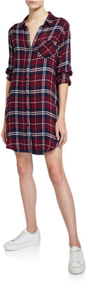 Rails Bianca Long-Sleeve Plaid Shirt Dress