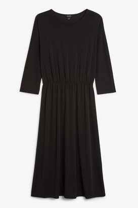 Monki Elastic-waist long dress