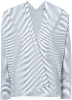 Nili Lotan single button striped blouse