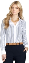 Brooks Brothers Petite Non-Iron Fitted Bold Stripe Dress Shirt