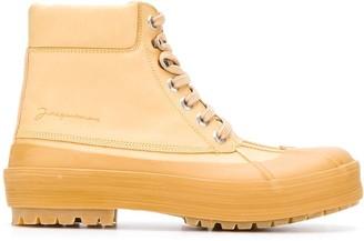 Jacquemus Rubber Detail Ankle Boots