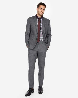 Express Slim Charcoal Jaspe Wool-Blend Suit Pant