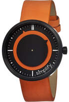 Simplify 0704 The 700 Watch - Orange Leather/Black Analog Watches