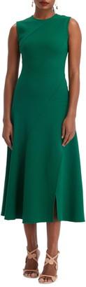 Oscar de la Renta Sleeveless A-Line Midi Dress