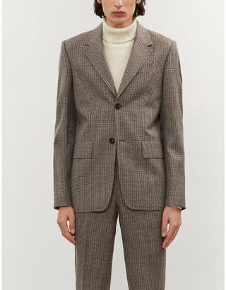 Sandro Notch-lapel checked wool blazer