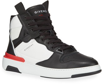 Givenchy Men's Two-Tone Leather Basketball Sneakers