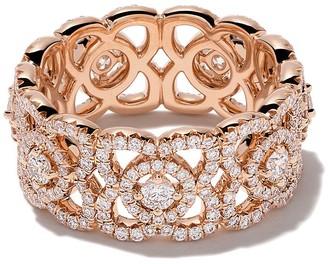 De Beers 18kt rose gold Enchanted Lotus diamond band