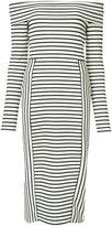 Derek Lam 10 Crosby striped bardot dress - women - Polyester/Spandex/Elastane/Rayon - S