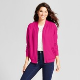A New Day Women's Ruffle Bomber Jacket - A New Day Magenta