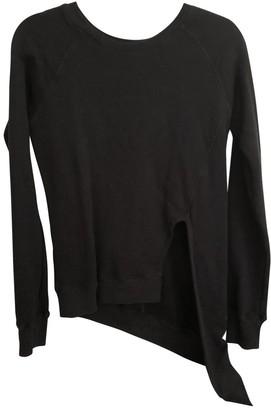OAK Black Cotton Top for Women