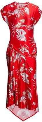Paco Rabanne Tropical Wrapped Midi Dress