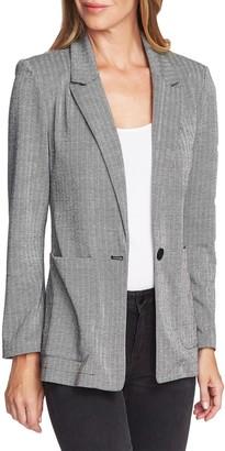Vince Camuto Herringbone 2 Pocket Blazer (Petite)