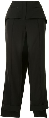 Vera Wang Layered Hybrid Cropped Trousers