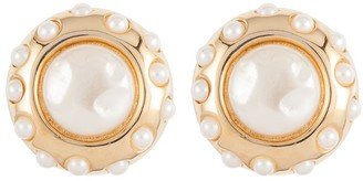 Susan Caplan Vintage 1980s Vintage Givenchy Faux Pearl Clip-on Earrings