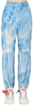 Off-White Off White TIED ANKLES TIE DYED NYLON PANTS