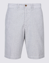 M&s Collection Pure Cotton Striped Chino Shorts