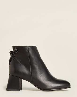 Elena Leather Ankle Booties