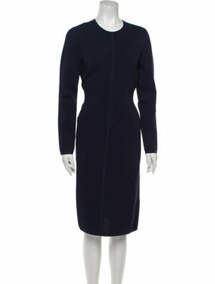 Narciso Rodriguez Crew Neck Midi Length Dress w/ Tags Blue