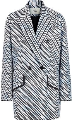 Fendi x Joshua Vides stripe print midi coat