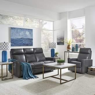 Latitude Run Pell Power Motion Reclining 2 Piece Leather Living Room Set Latitude Run