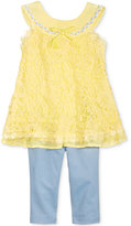 Nannette 2-Pc. Crochet Tunic and Leggings Set, Toddler Girls (2T-5T)