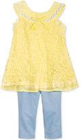 Nannette 2-Pc. Crochet Tunic & Leggings Set, Toddler & Little Girls (2T-6X)