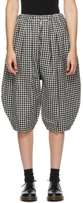 Comme des Garçons Comme des Garçons Black and White Wool Gingham Trousers