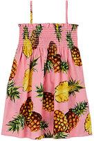Dolce & Gabbana Pineapple-Print Cotton Poplin Dress