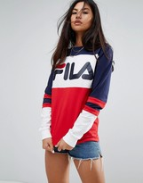Fila Oversized Rugby T-Shirt With Contrasts And Chest Logo
