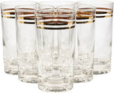 One Kings Lane Vintage Gilt Ringed Glass Tumblers, S/6