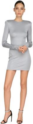 Alexandre Vauthier Rib Jersey Lame Mini Dress