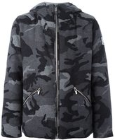 Moncler Gamme Bleu camouflage print hooded jacket - men - Wool/Feather Down/Cotton/Cupro - 4