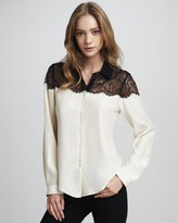 Dolce Vita Itati Lace-Top Blouse