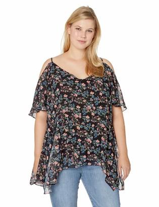City Chic Women's Apparel Plus Size TOP Baby Floral XXL