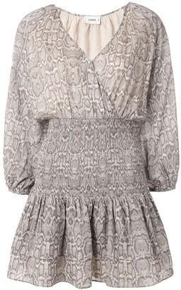 SUBOO Sylvie shirred waist mini dress