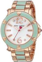Betsey Johnson Women's Quartz Stainless Steel and Alloy Casual Watch, Color:Rose Gold-Toned (Model: BJ00459-16)
