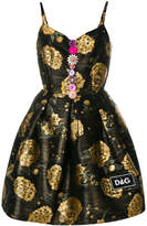 Dolce & Gabbana foil print dress