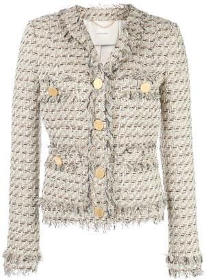 Adam Lippes Single-Breasted Tweed Jacket