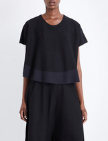 Issey Miyake Berry cotton-blend top