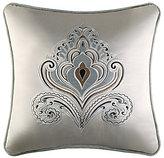 J Queen New York Romance Spa Velvet-Trimmed Embroidered Damask Square Pillow