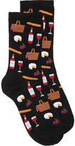 Hot Sox Wine Picnic Crew Socks - Women's