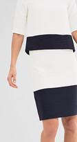 Esprit Stretch mini skirt w two-tone colour blocking