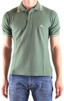 Evisu Men's Green Cotton Polo Shirt.