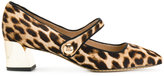Tory Burch square toe pumps - women - Calf Leather/Leather/Spandex/Elastane - 6